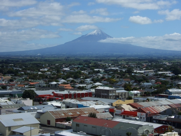 Mt Egmont/Taranaki from the water tower in Hawera